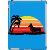 Corgi on Sunset Beach iPad Case/Skin