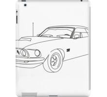 Black & White Mustang  iPad Case/Skin