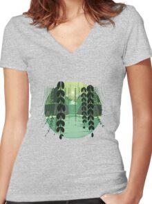 Misty Marsh Women's Fitted V-Neck T-Shirt