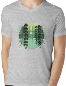 Misty Marsh Mens V-Neck T-Shirt