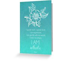 Throat Chakra Affirmation Greeting Card