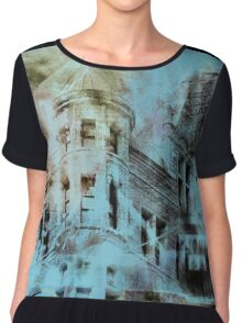 Urban Architecture Abstract Chiffon Top