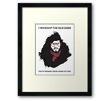 Hipster Jon Snow Framed Print