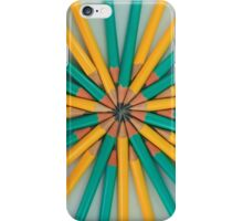 Green and Yellow Pencil Patterns iPhone Case/Skin
