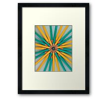 Green and Yellow Pencil Patterns Framed Print
