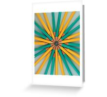 Green and Yellow Pencil Patterns Greeting Card