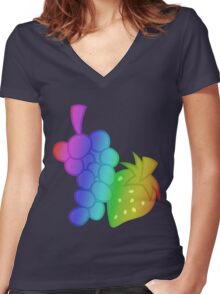 MLP - Cutie Mark Rainbow Special - Berry Punch Women's Fitted V-Neck T-Shirt