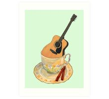 Music is Everyone's Cup of Tea - Guitar Art Print