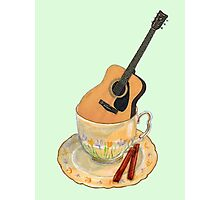 Music is Everyone's Cup of Tea - Guitar Photographic Print