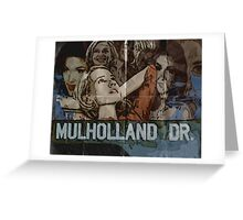 Mulholland Drive Poster Greeting Card