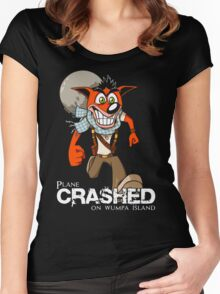 Crashed Women's Fitted Scoop T-Shirt