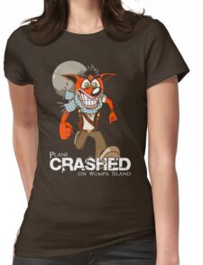 Crashed Womens Fitted T-Shirt