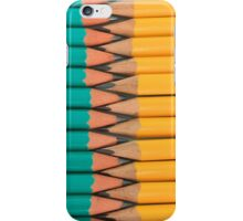 Yellow and Green Pencils iPhone Case/Skin