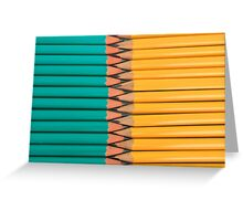 Yellow and Green Pencils Greeting Card