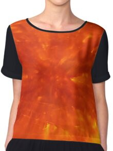 Red Hot Abstract Chiffon Top