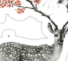 Deer and flowers Sticker