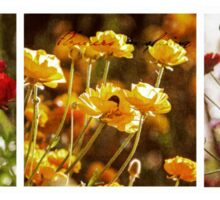 Flowers in Spring ~ A Triptych Sticker