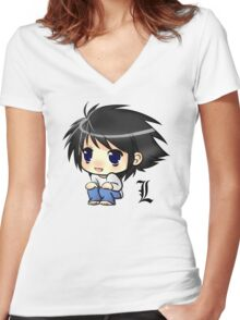 Note Chibi Women's Fitted V-Neck T-Shirt