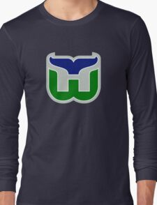 HARTFORD WHALERS HOCKEY RETRO Long Sleeve T-Shirt