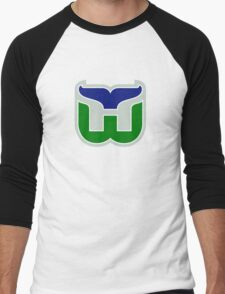 HARTFORD WHALERS HOCKEY RETRO Men's Baseball ¾ T-Shirt