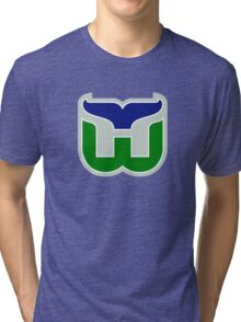 HARTFORD WHALERS HOCKEY RETRO Tri-blend T-Shirt