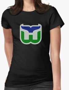 HARTFORD WHALERS HOCKEY RETRO Womens Fitted T-Shirt