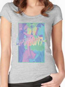 Moon-Love-Power  Women's Fitted Scoop T-Shirt