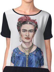 Hommage to Frida Kahlo Chiffon Top