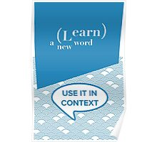 Learn A New Word Poster