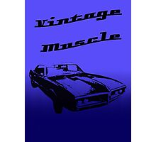 Muscle Car In Blue Photographic Print