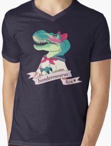 Tsunderesaurus Rex Mens V-Neck T-Shirt