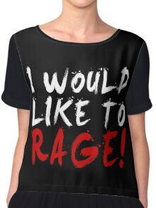 I WOULD LIKE TO RAGE!!! - Grog Strongjaw (White) Chiffon Top