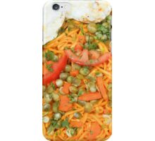 Noodles Vegetables and Fried Eggs iPhone Case/Skin
