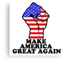 MAKE AMERICA GREAT AGAIN - RAISED FIST Canvas Print