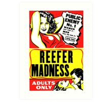 Reefer Madness Weed Poster Art Print