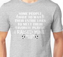 Soccer Dad - I raised my favorite player (Boy - White print) T-Shirt