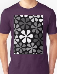 Abstract Flowers Monochrome Unisex T-Shirt