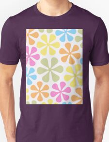 Abstract Flowers Bright Color Mix Unisex T-Shirt