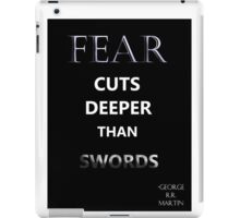 "Game of Thrones ""Fear Cuts Deeper Than Words"" iPad Case/Skin"