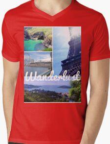 Wanderlust Mens V-Neck T-Shirt