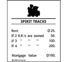 Spirit Tracks Monopoly Photographic Print