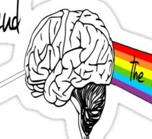the dark side of mind Sticker