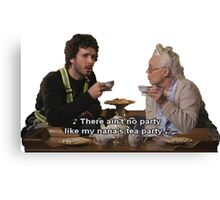 Flight of the Conchords - Tea Party Canvas Print