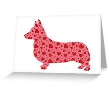 Valentine Hearts Corgi Greeting Card