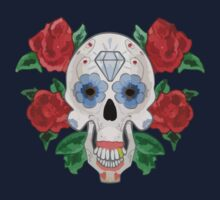 Day of the Dead Sugar Skull and Roses Kids Tee