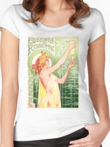 'Absinthe Robette' by Henri Privat-Livemont  Women's Fitted Scoop T-Shirt