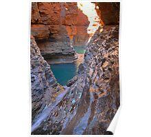 Hancock Gorge below Kermits Pool HDR, Karijini National Park Poster