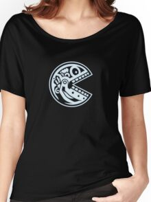 Robotic Pac Skull Women's Relaxed Fit T-Shirt