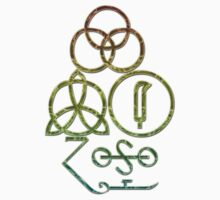 LED ZEPPELIN BAND SYMBOLS (GRUNGY PASTELS) by Endlessgrief