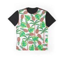 Pineapple Palm Trees and Tropical Summer Leaves Graphic T-Shirt